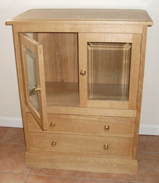 oak display cabinet ... & Cabinets